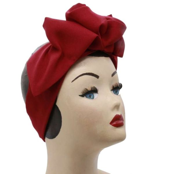 Hair Band, EASY Turban Dark Red
