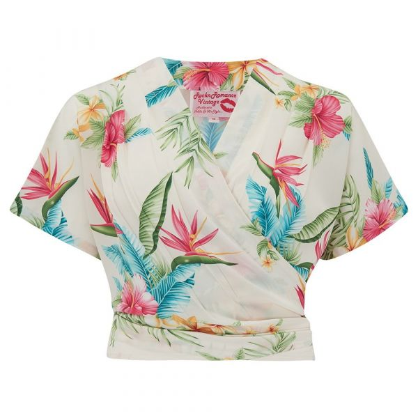 Blouse, DARLA Short Honolulu Natural