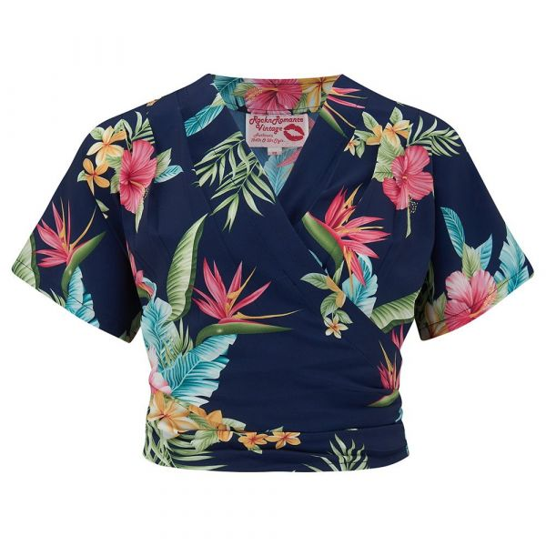 Blouse, DARLA Short Honolulu Navy