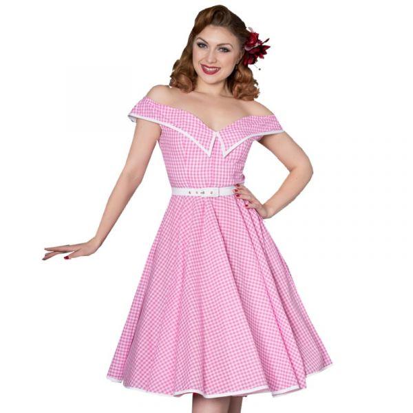 Swing Dress, DAVINA Pink Gingham (8229)