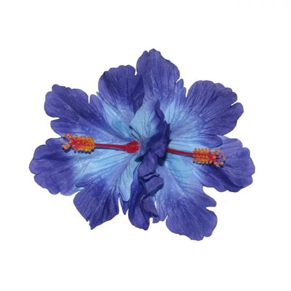 Hair Flower, DEBRA Hibiscus Double Blue