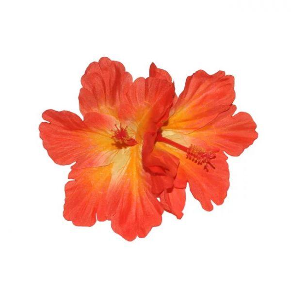 Hair Flower, DEBRA Hibiscus Double Orange