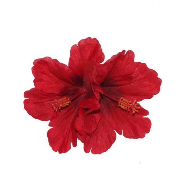 Hair Flower, DEBRA Hibiscus Double Red