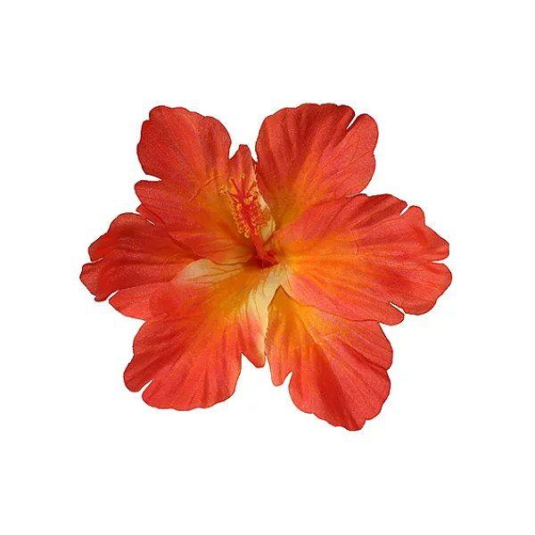 Hair Flower, DEBRA Hibiscus Single Orange