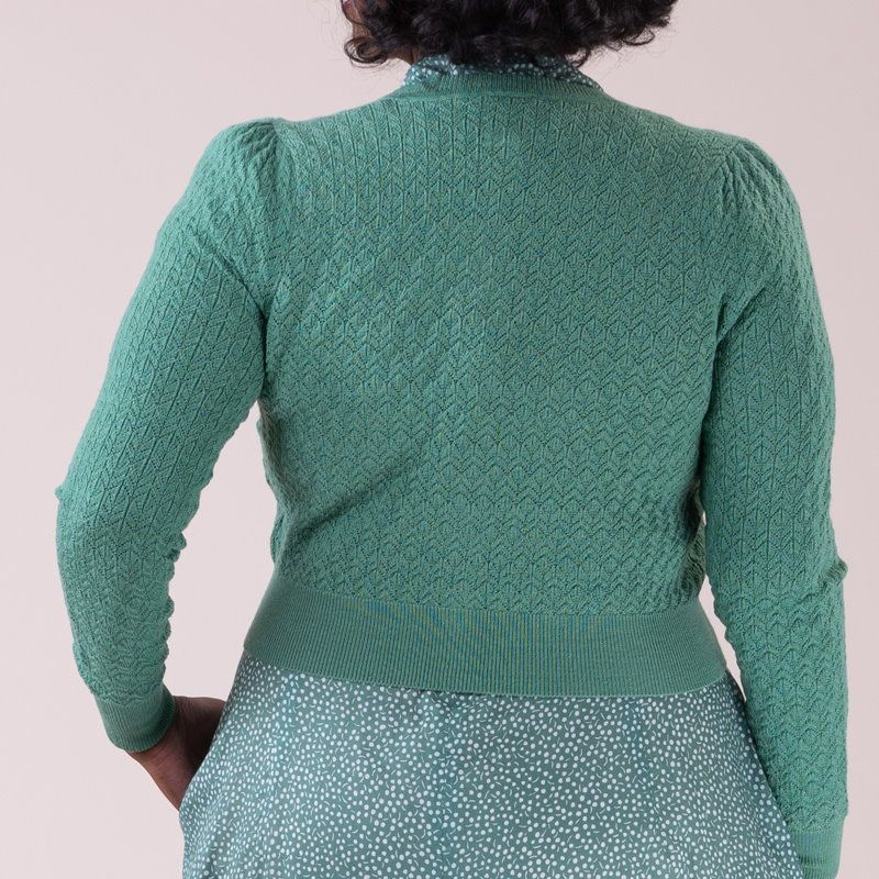 EMMY Cardigan, Delightful Daytime Celadon Green