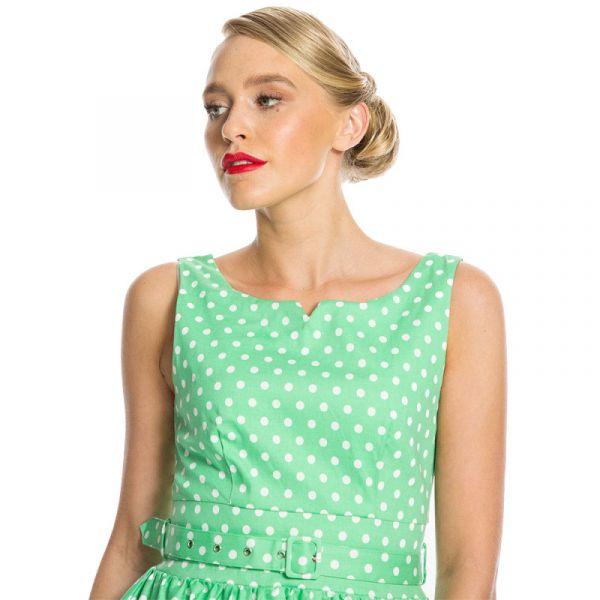 Swing Dress, DELTA Mint Polkadot