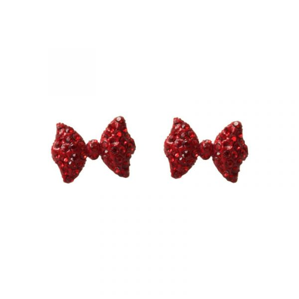 Korvakorut, DOROTHY Diamante Bow Red