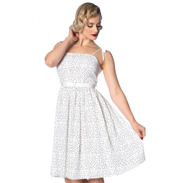 Swing Dress, SWEET SPOTS White (16017)