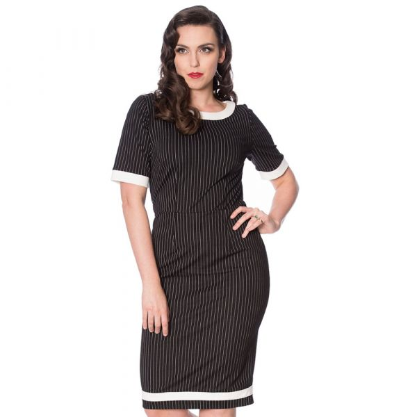 Pencil Dress, Pinstripe (16219)