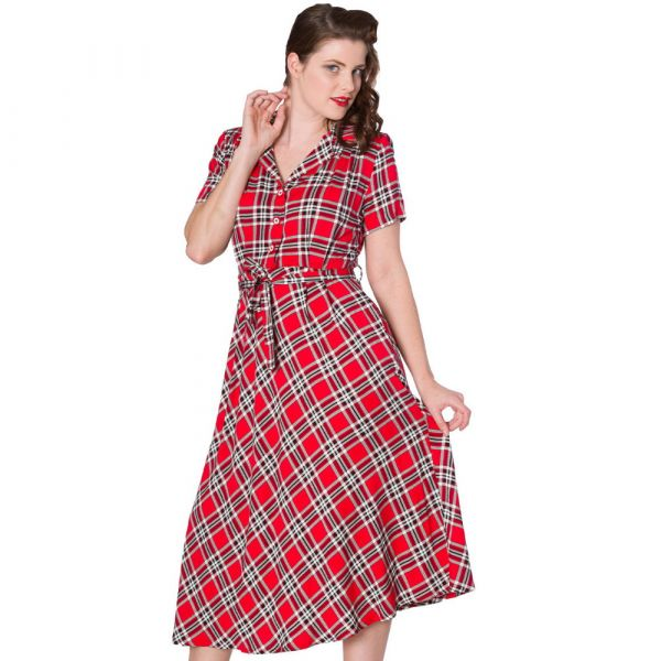 Flare Dress, DOROTHY Red (16396)