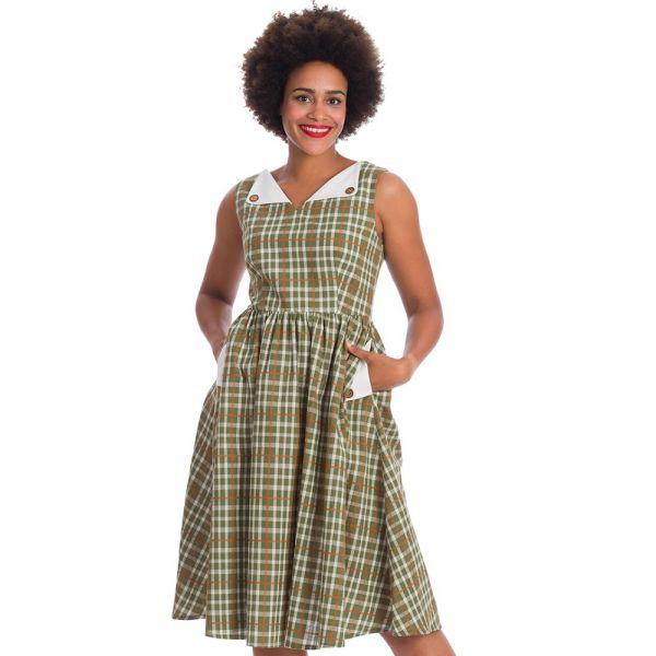 Swing Dress, GARDEN CHECK (16475)