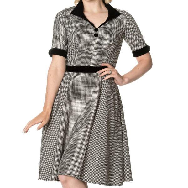 Swing Dress, SWEPT OFF HER FEET Black (5142)