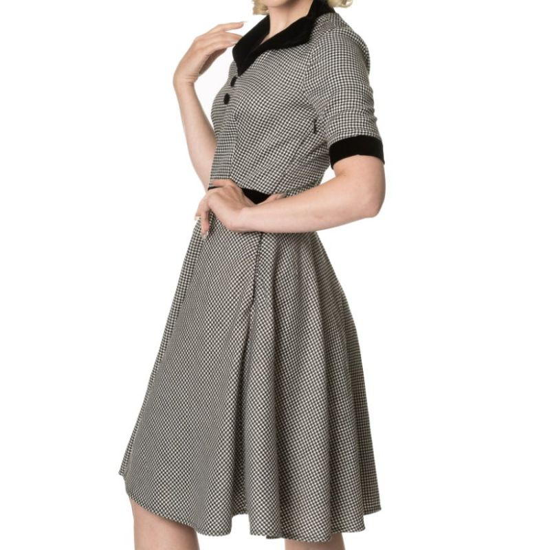 Swing Dress, SWEPT OFF HER FEET Black (5142)