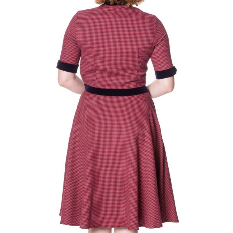 Swing Dress, SWEPT OFF HER FEET Red (5142)