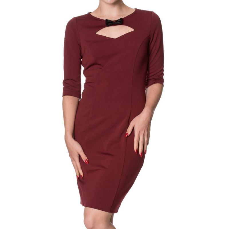 Pencil Dress, ALLURE Burgundy (5411)