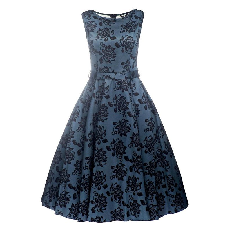 Kellomekko, HEPBURN Elegant Floral Blue