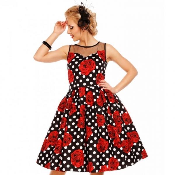 Swing Dress, ELIZABETH Rose Polka