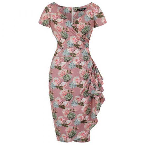 Pencil Dress, LADY V ELSIE Rose Haze