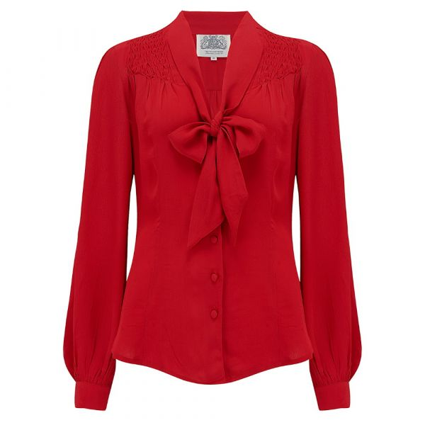 Blouse, SEAMSTRESS OF BLOOMSBURY Eva Red