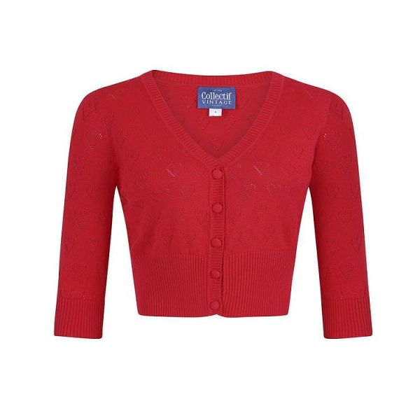 Cardigan, EVIE Heart Red