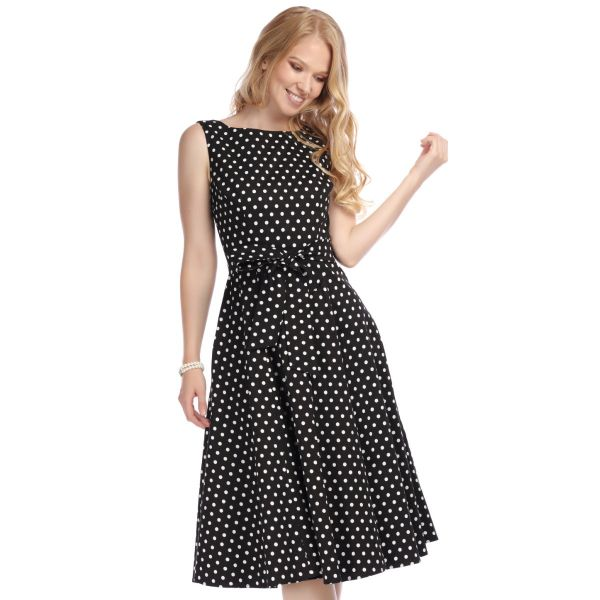 Swing Dress, FRANCES Polkadot