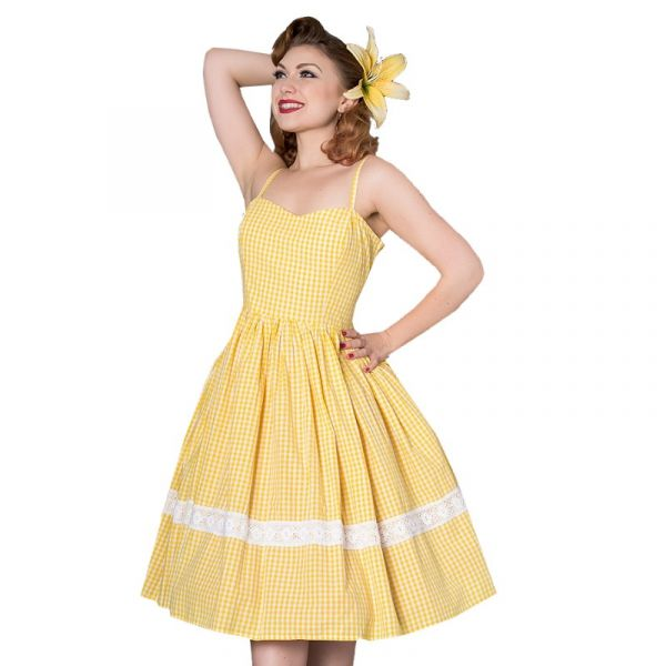 Kellomekko, GAIL Yellow Gingham (8232)