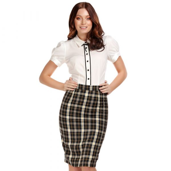 Pencil Skirt, POLLY Geek Check