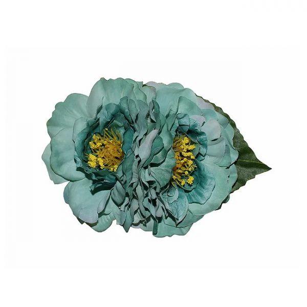 Hair flower, GEORGIA Green
