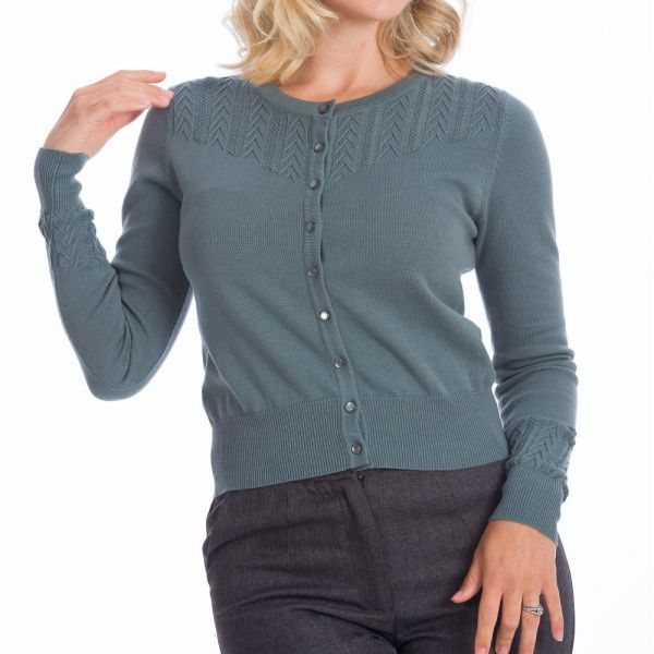 Cardigan, GOSH GIRL Dusty Blue (21059)