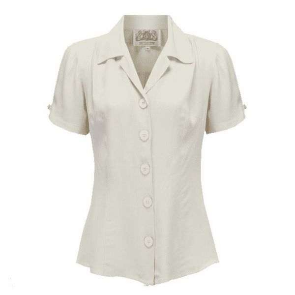 Blouse, SEAMSTRESS OF BLOOMSBURY Grace Ivory