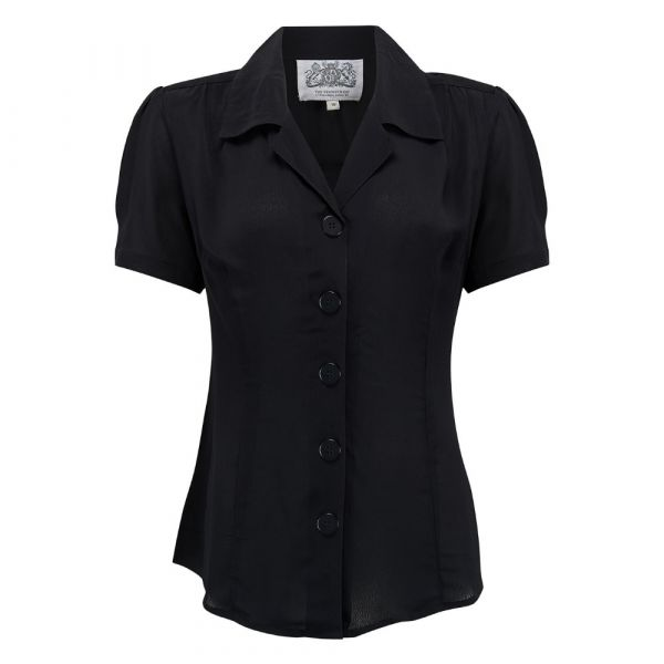 Blouse, SEAMSTRESS OF BLOOMSBURY Grace Black