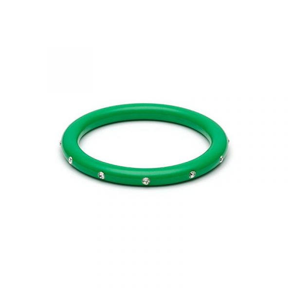 Bracelet, SPLENDETTE Green Diamante Narrow