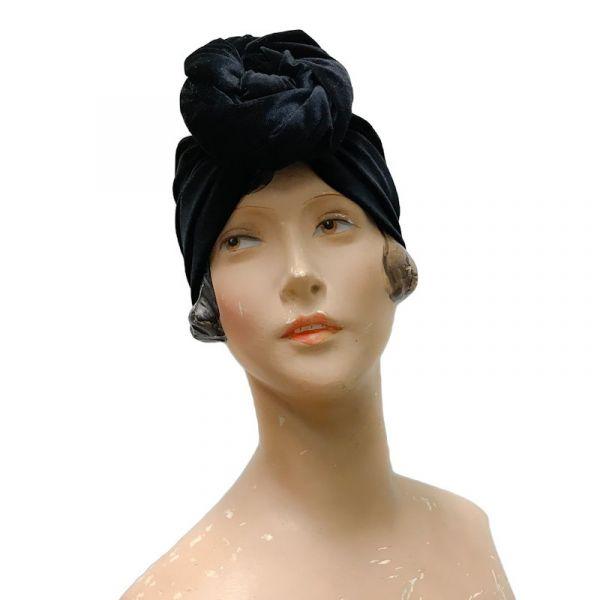 RUBYLEA Turban, GRETA Black Velvet