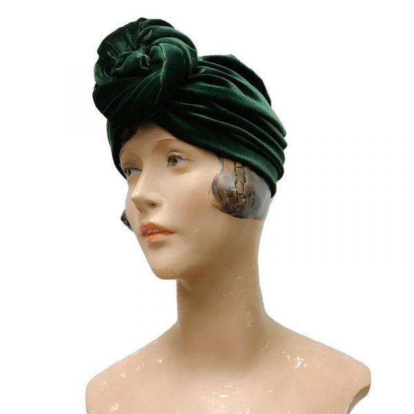 RUBYLEA Turban, GRETA Green Velvet
