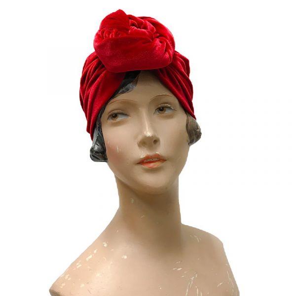 RUBYLEA Turban, GRETA Red Velvet