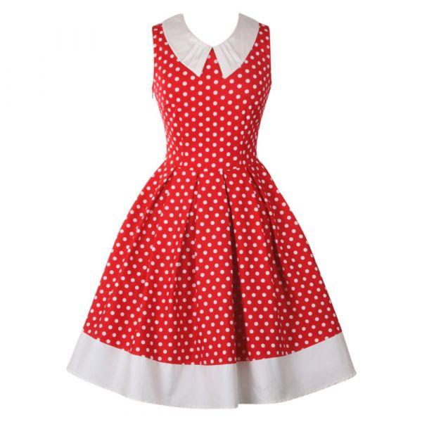 Swing Dress, HAZEL Red (338AH)