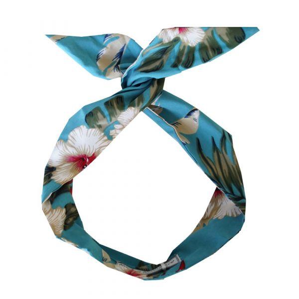 Wired Headband, ROCK'N Teal Hawaiian
