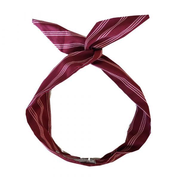 Wired Headband, ROCK'N Maroon Stripe