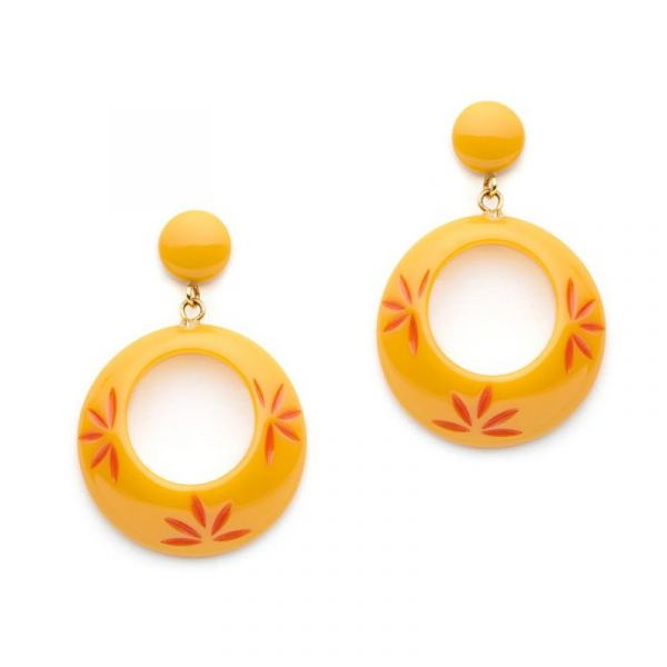 Earrings, SPLENDETTE Honeysuckle Drop Hoop