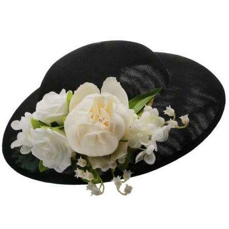Hattu & Kukkakoriste, MIRANDA's Black & Ivory Flowers