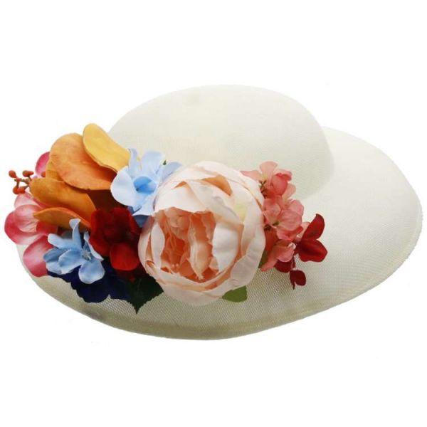 Hattu & Kukkakoriste, MIRANDA's White & Colorful Floral