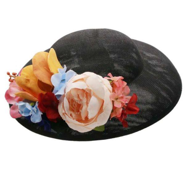 Hattu & Kukkakoriste, MIRANDA's Black & Colorful Floral