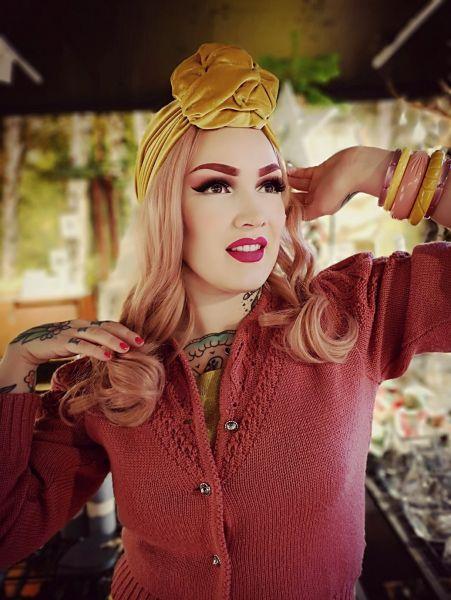 RUBYLEA Turbaani, JOAN Dusky Pink Velvet