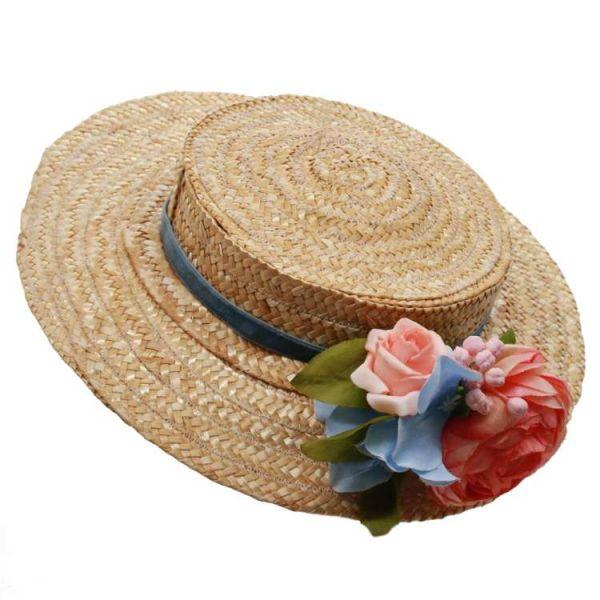 Hattu, MIRANDA's Boater & Pastel Floral