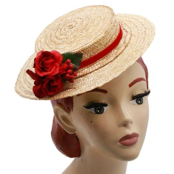 Hattu, MIRANDA's Boater & Red Floral