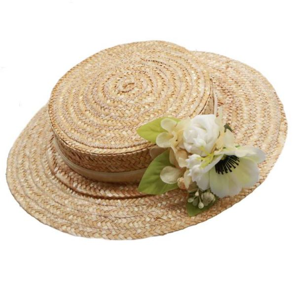 Hattu, MIRANDA's Boater & White Floral