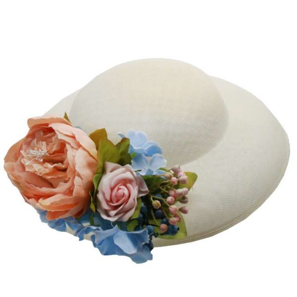 Hat & Flowers, MIRANDA's White & Pastel Flowers