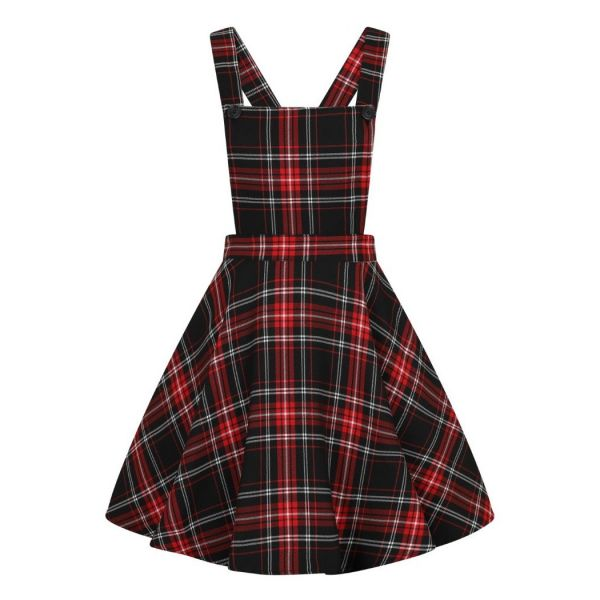 Pinafore Dress, ISLAY Blk/Red (40066)