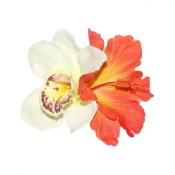 Hair Flower, IZABELA Cream&Orange