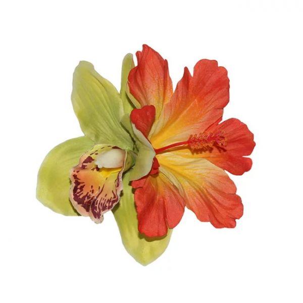 Hair Flower, IZABELA Green&Orange